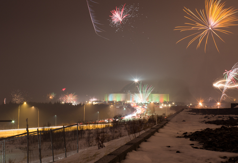 New Year's Eve Fireworks, Reykjavik