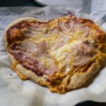 Bacon and Egg Love Heart Pizza