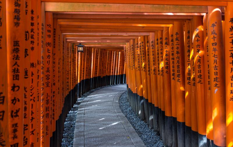 Torii tunnel Fushimi-Inari, Kyoto
