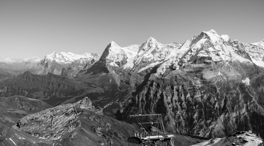 Eiger, Mönch, Jungfrau from the Schilthorn