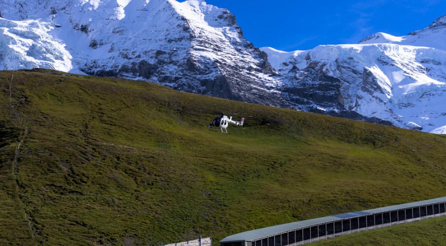 Chopper near Kleine Scheidegg