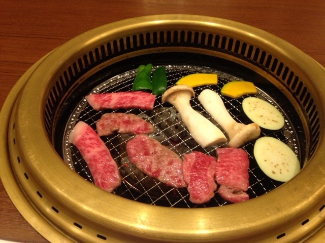 Hida beef cooking
