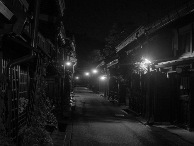 Sannomachi at night