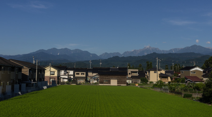 Tateyama Range from the train to Toyama