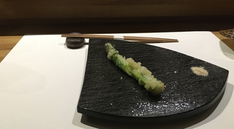 1. Tempura asparagus