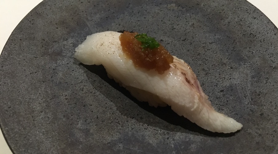 Sea perch with white radish