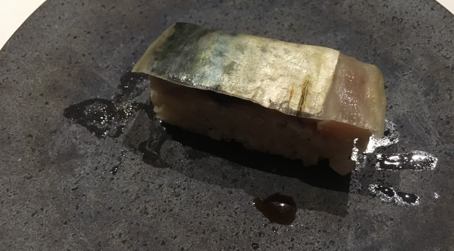 Cured Japanese mackerel