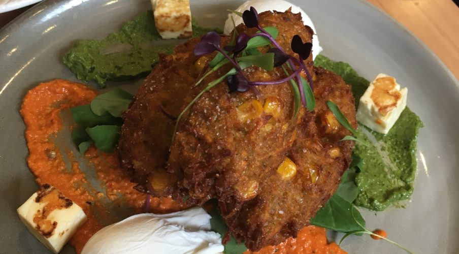 Brunch: Sweet potato corn fritters