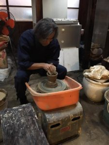 Pottery: Shigeru sensei working his magic