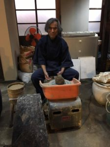 Pottery: Shigeru sensei getting started