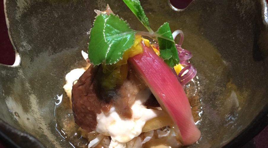 Kaiseki: Spanish Mackerel, pickled turnip