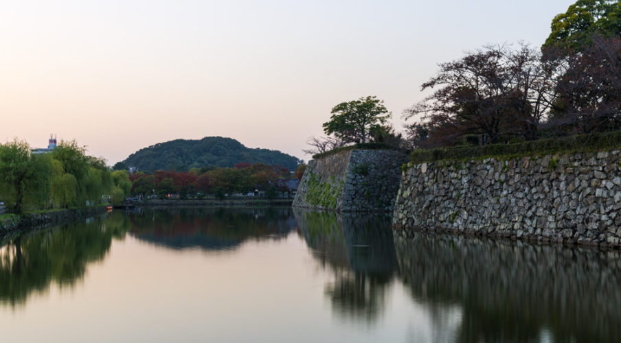 Moat outside Himerji Castle