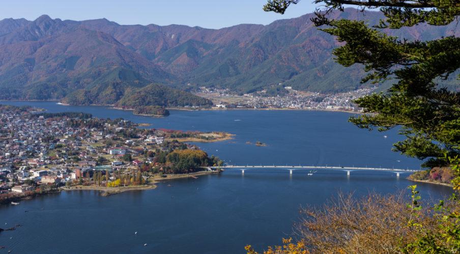 Kawaguchi-ko from Mount Kachi Kachi