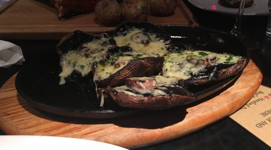 Queenstown 2017: Cheesy Portobello Mushrooms