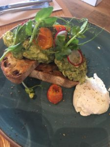 Brunch at Dish and Spoon: Green Apple Smashed Avocado