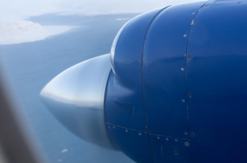 The little engine on my plane up to Patreksfjordur