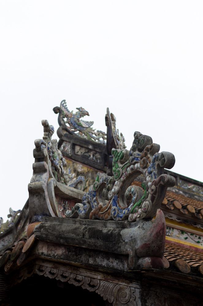 Roof of some building at the Imperial Palace, Hue