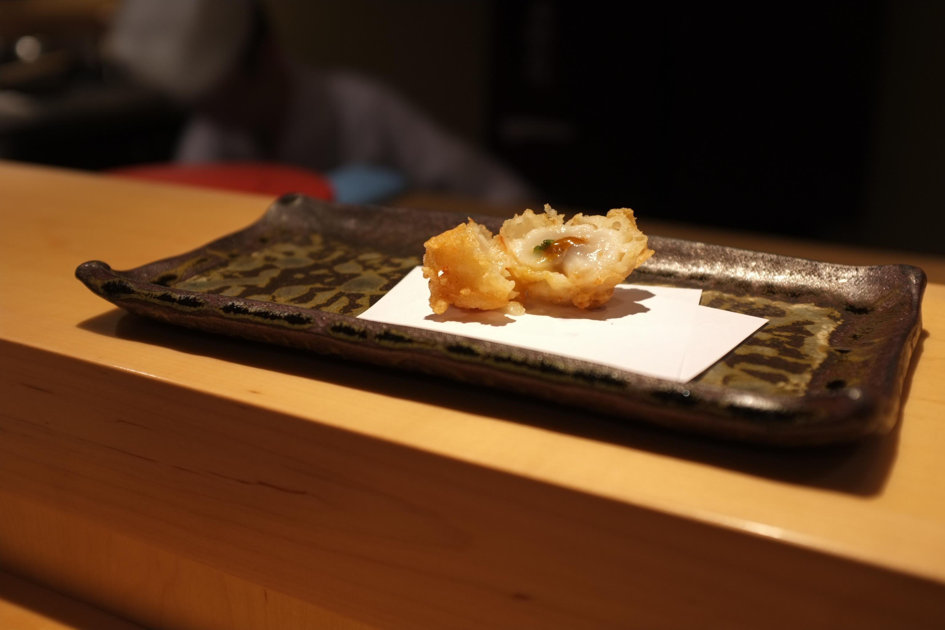 Scallop and sea urchin