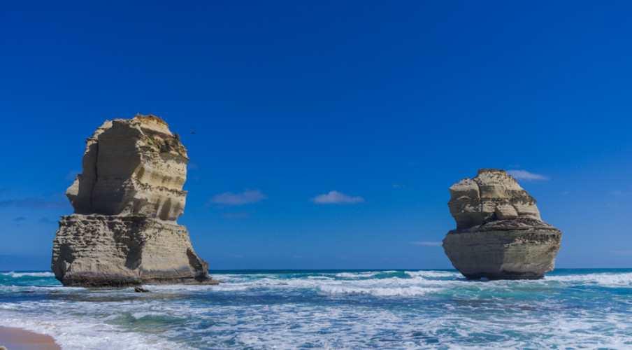 Two Apostles on the beach