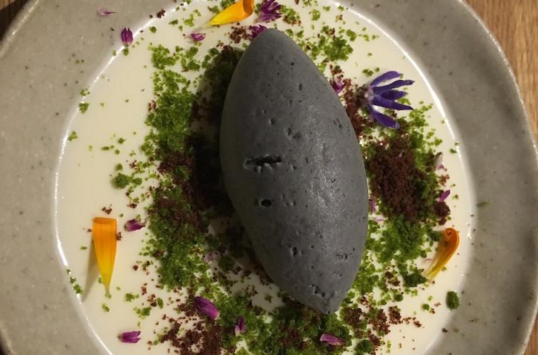 Zen garden black sesame iced cream