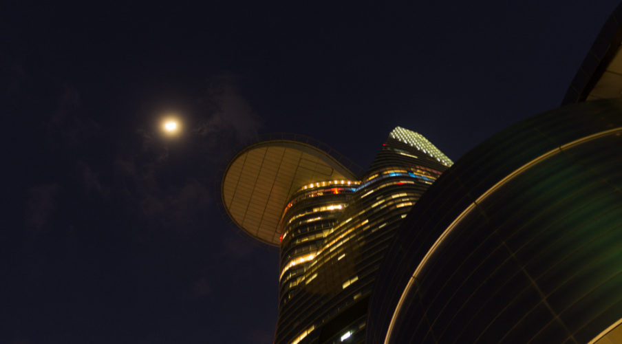 Bitexco and the Moon