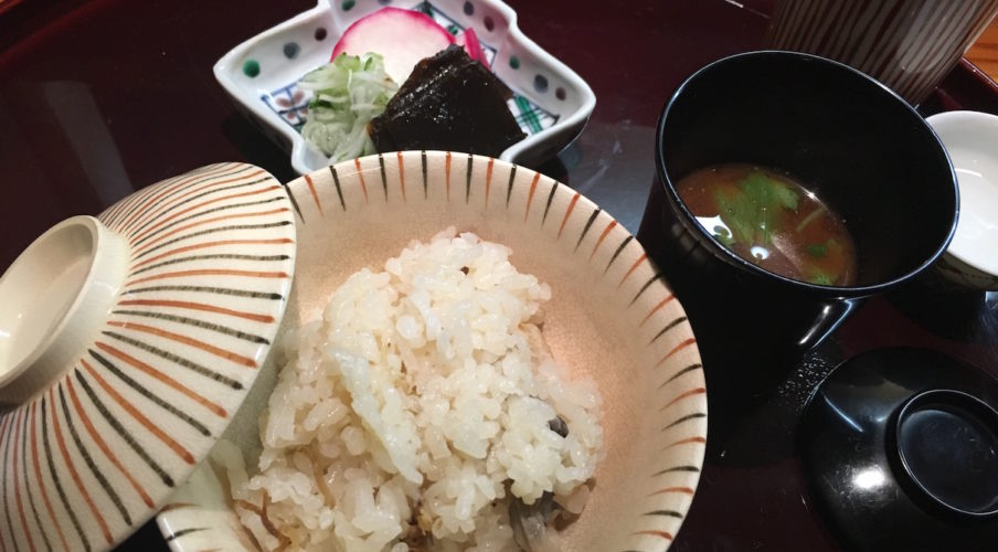 Kaiseki: Rice and Miso soup